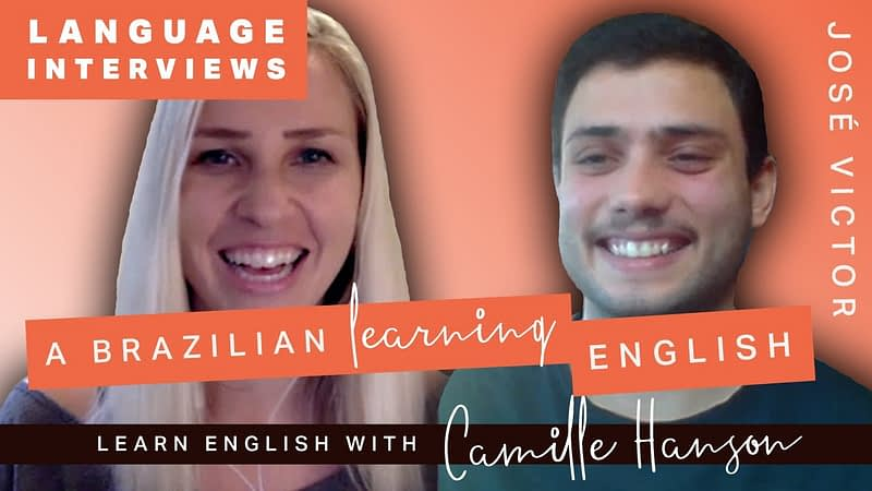 A Brazilian Learns English - 8 meses - Youtube Video - Learn English with Camille