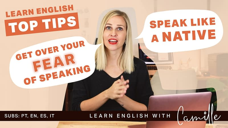 Get over your fear of speaking english and speak like a native Free video