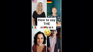 How to say THE in English and other languages